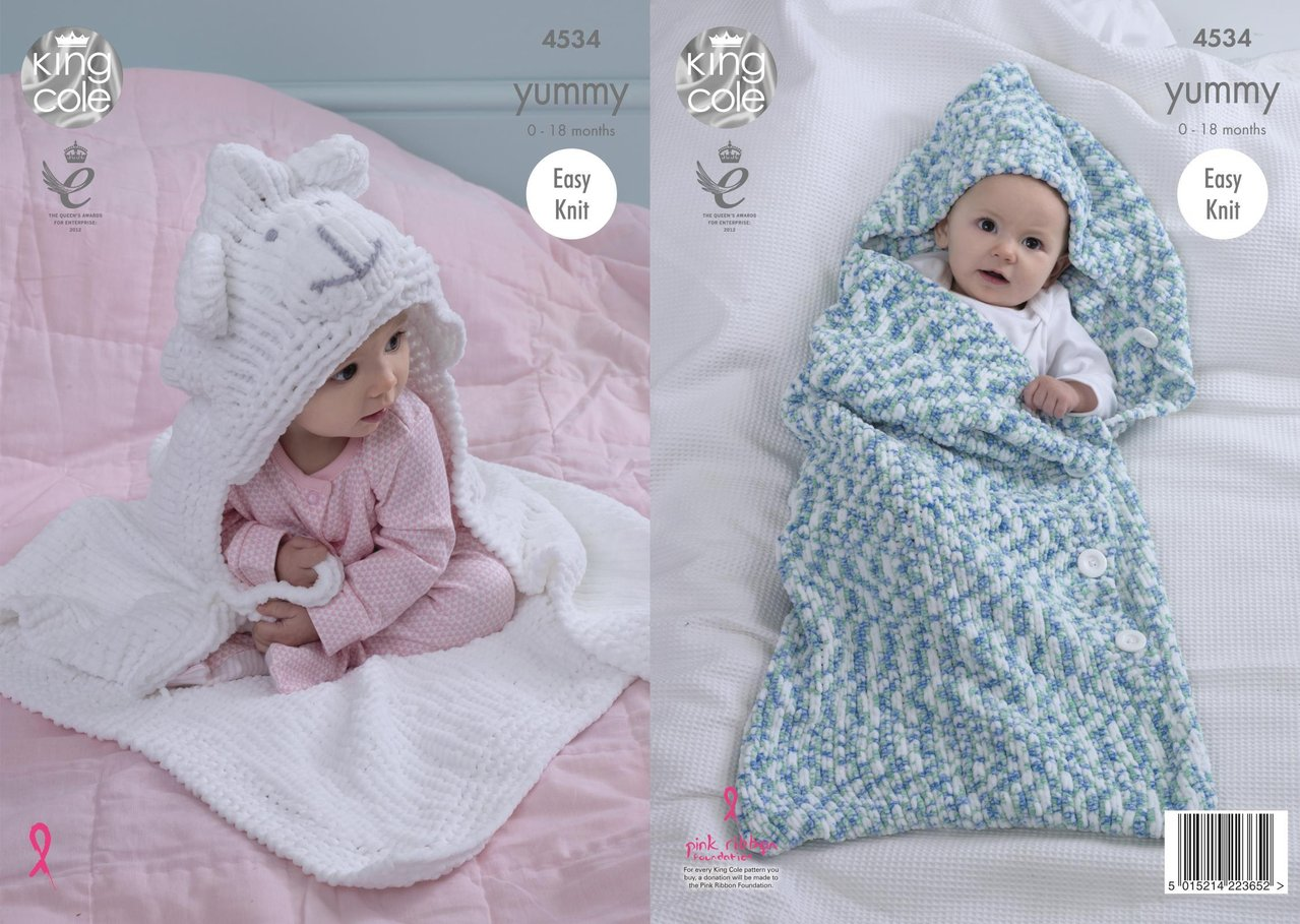 King Cole 4534 Knitting Pattern Babby Cocoon & Blanket in King Cole ...