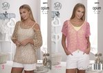 King Cole 4495 Crochet Pattern Ladies Tunic & V-Neck Top in Opium