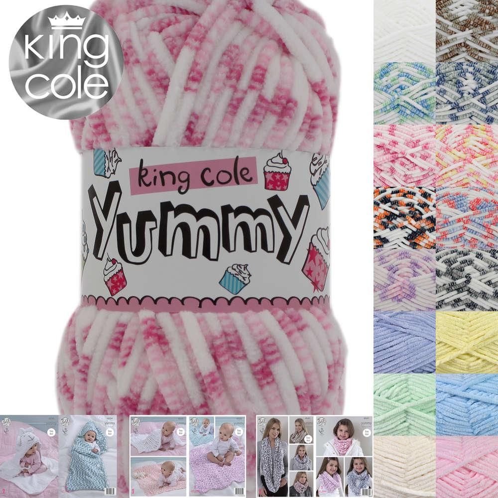 King Cole Crochet Pattern Crochet Unicorn Rainbow Cushion Yummy 9068