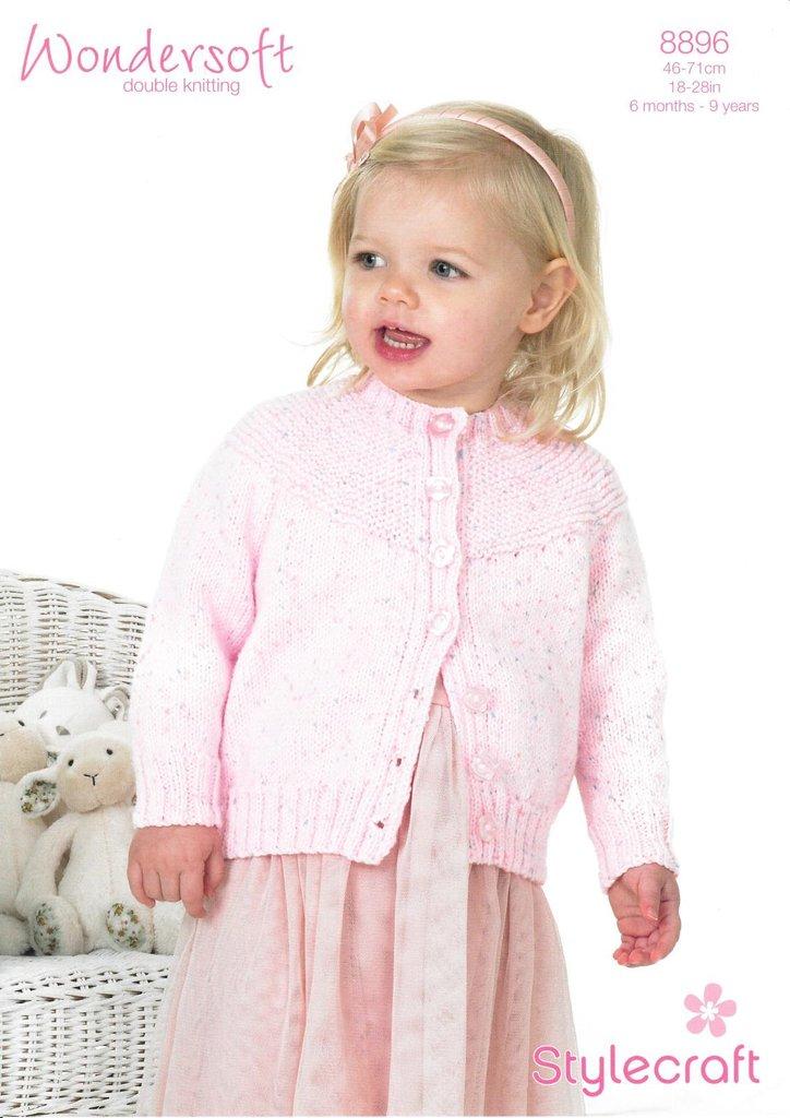 Stylecraft 8896 Knitting Pattern Babies Children Girls Cardigan in ...