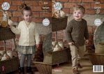 King Cole 4561 Knitting Pattern Childrens Raglan Tunic and Cardigan in Fashion Aran