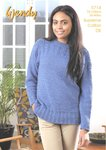 Wendy 5714 Knitting Pattern Ladies Guernsey Style Sweater in Wendy Supreme Cotton DK