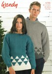 Wendy 5755 Knitting Pattern Unisex Christmas Winter Trees Sweater in Merino Chunky
