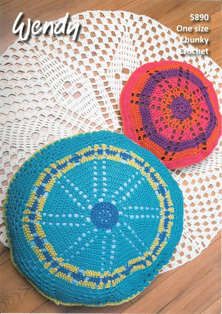 Wendy 5890 Crochet Pattern Rug, Floor Cushion and Scatter Cushion in ...
