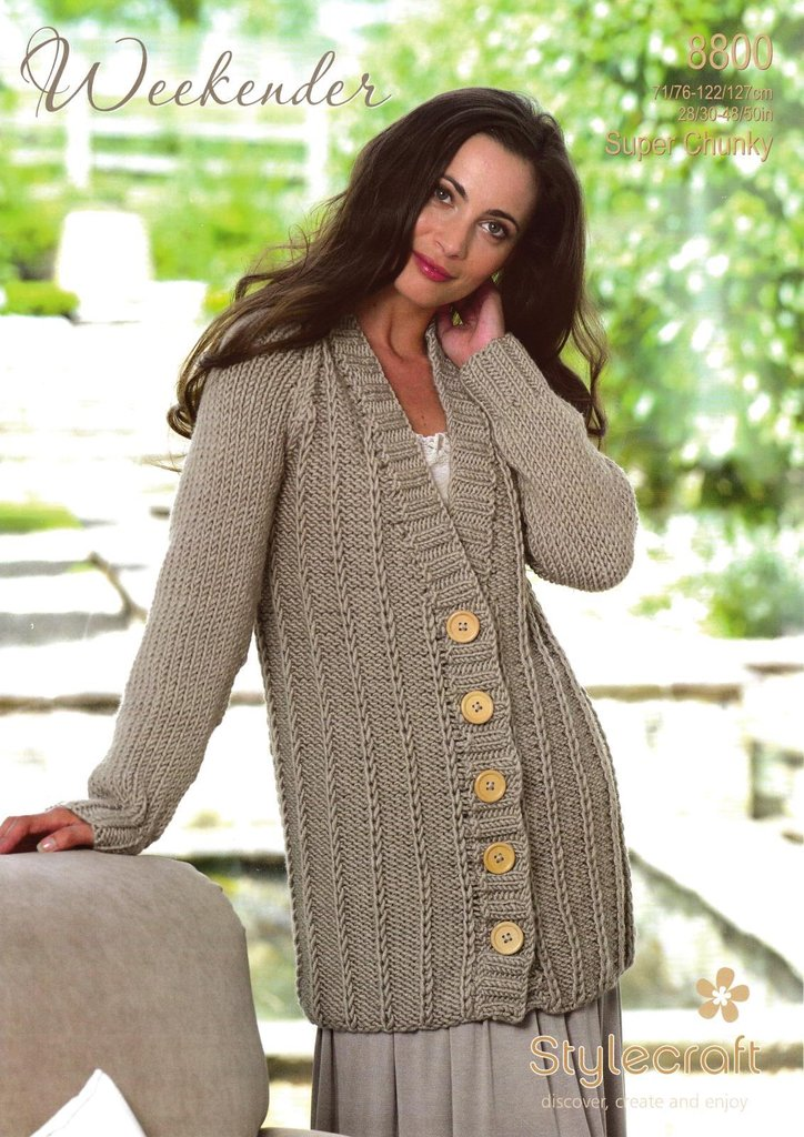 Stylecraft 8800 Knitting Pattern Ladies Jacket In ...