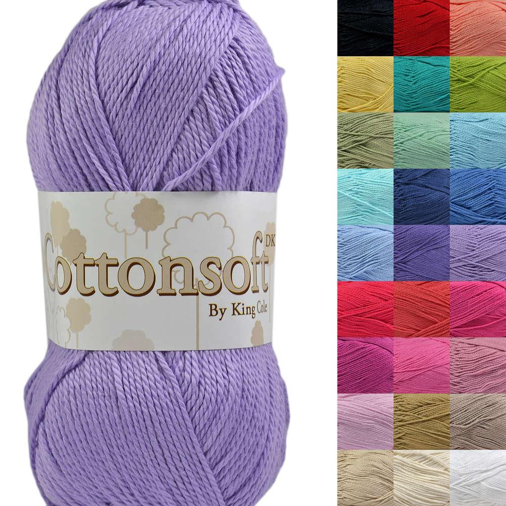 1407fcb19 King Cole Cottonsoft DK 100% Cotton Knitting Yarn