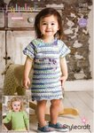 Stylecraft 9283 Knitting Pattern Baby Child Dress and Sweater in Lullaby Print and Lullaby DK
