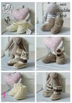 King Cole 4652 Knitting Pattern Babies Socks Booties and Shoes in Cherished DK