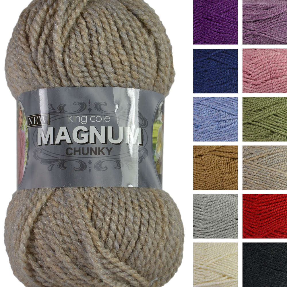 c407d343dc0 King Cole New Magnum Chunky Knitting Yarn Wool Acrylic Blend