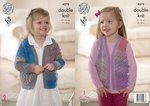 King Cole 4578 Knitting Pattern Girls Cardigan and Waistcoat in King Cole Sprite DK