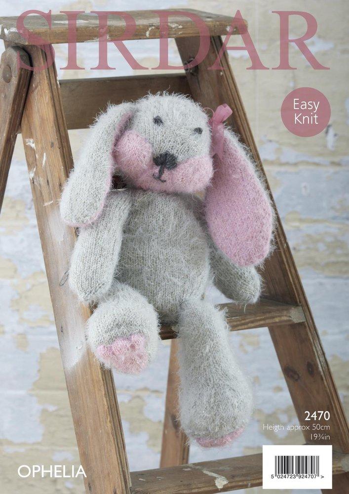 Sirdar 2470 Knitting Pattern Toy Rabbit In Sirdar Ophelia Chunky