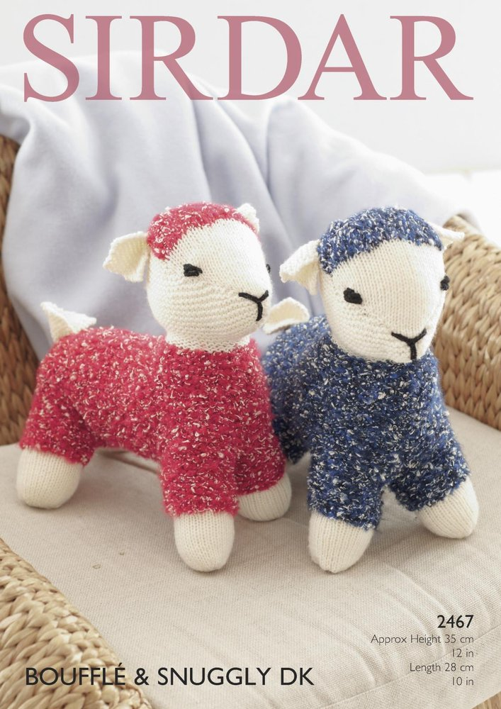 Sirdar 2467 Knitting Pattern Toy Lamb In Sirdar Bouffle And Snuggly