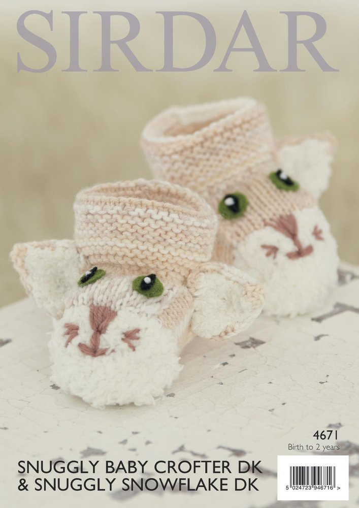Sirdar 4671 Knitting Pattern Baby Childrens Cat Bag & Bootees in ...