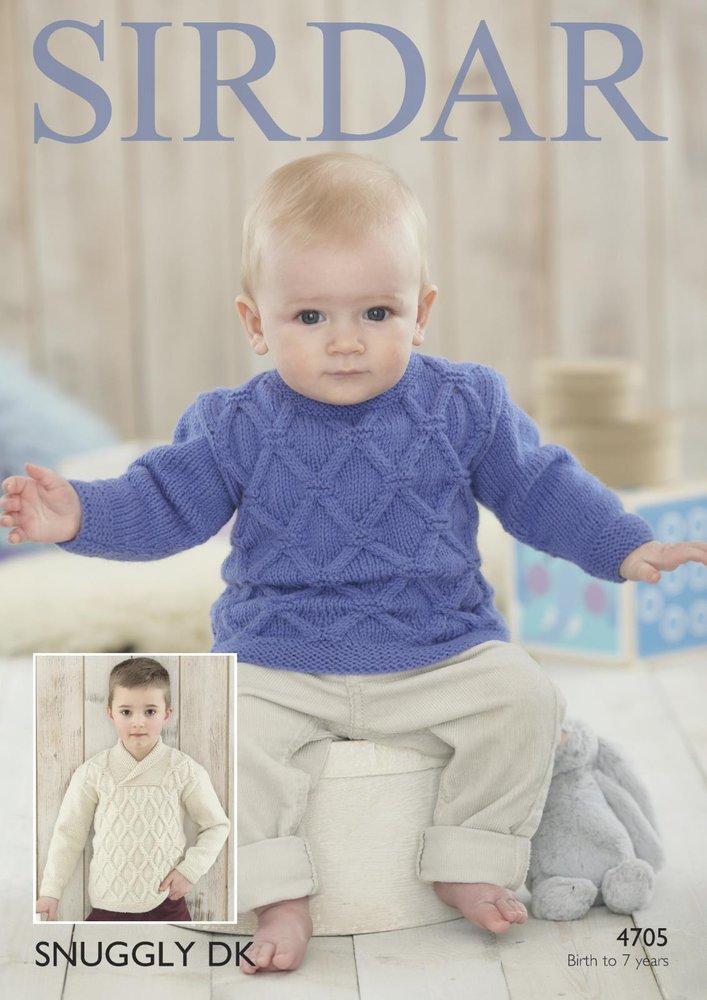 f2fff9cb9 Sirdar 4705 Knitting Patttern Baby Boys Sweaters in Sirdar Snuggly DK -  Athenbys