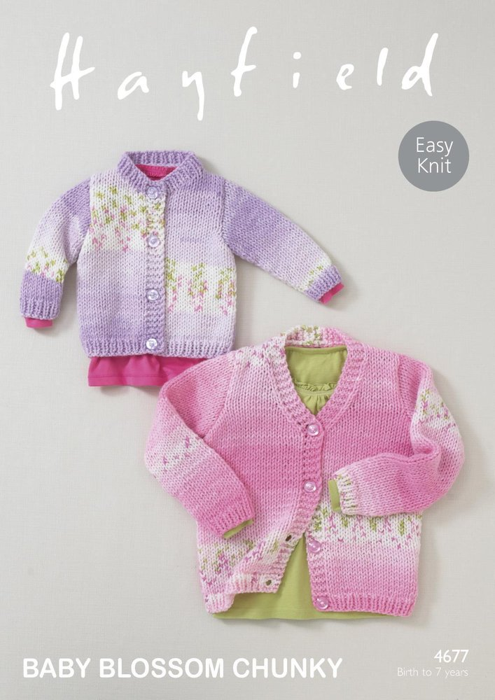 Sirdar 4677 Knitting Pattern Baby Girls Round & V Neck Cardigans in ...