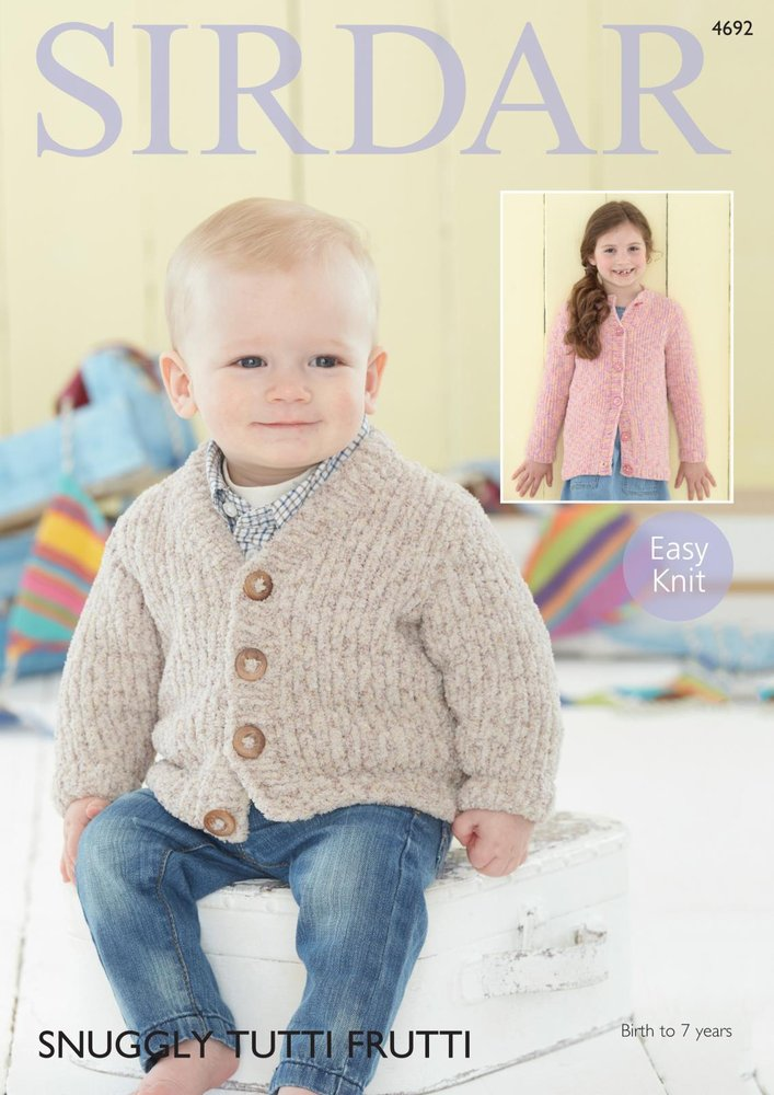 Sirdar 4692 Knitting Pattern Boys Girls Cardigans In Sirdar