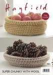 Sirdar 7804 Crochet Pattern Crochet Cat Nest and Storage Baskets in Hayfield Super Chunky with Wool