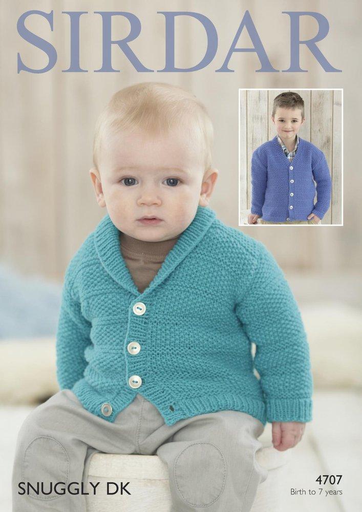 eac769816 Sirdar 4707 Knitting Patttern Baby Boys Cardigans in Sirdar Snuggly DK -  Athenbys