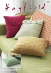 Sirdar 7803 Knitting Pattern Cushion Covers in Hayfield Bonus Aran