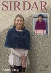 Sirdar 7875 Knitting Pattern Womens Girls Cowl Neck and Collared  Capes in Sirdar Plushtweed