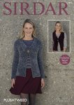 Sirdar 7873 Knitting Pattern Womens Jacket and Waistcoat in Sirdar Plushtweed