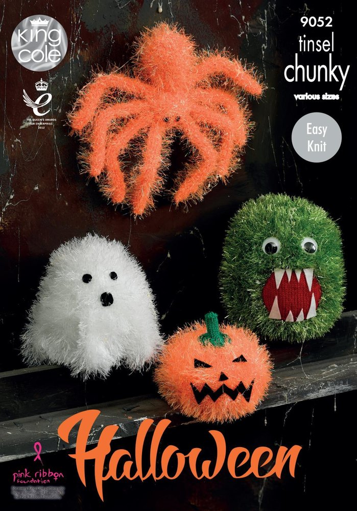King Cole 9052 Knitting Pattern Halloween Monsters in Tinsel Chunky ...