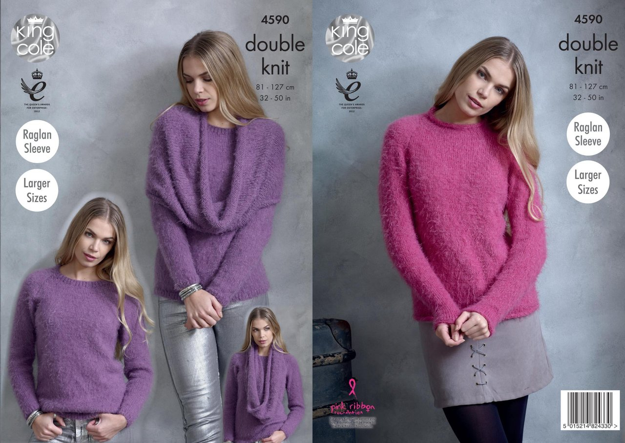 King Cole Womens Double Knitting DK Pattern Ladies Sweater Lacy Cardigan 4525