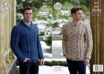King Cole 4616 Knitting Pattern Mens Sweaters in King Cole Big Value Super Chunky Twist