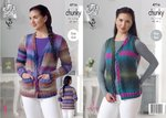 King Cole 4716 Knitting Pattern Womens Easy Knit Cardigan and Waistcoat in King Cole Riot Chunky