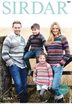 Sirdar 7884 Knitting Pattern Family Raglan Sweaters in Sirdar Aura Chunky