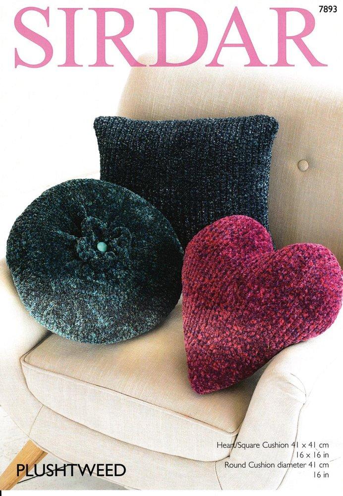 Sirdar 7893 Knitting Pattern Cushions In Sirdar Plushtweed Athenbys