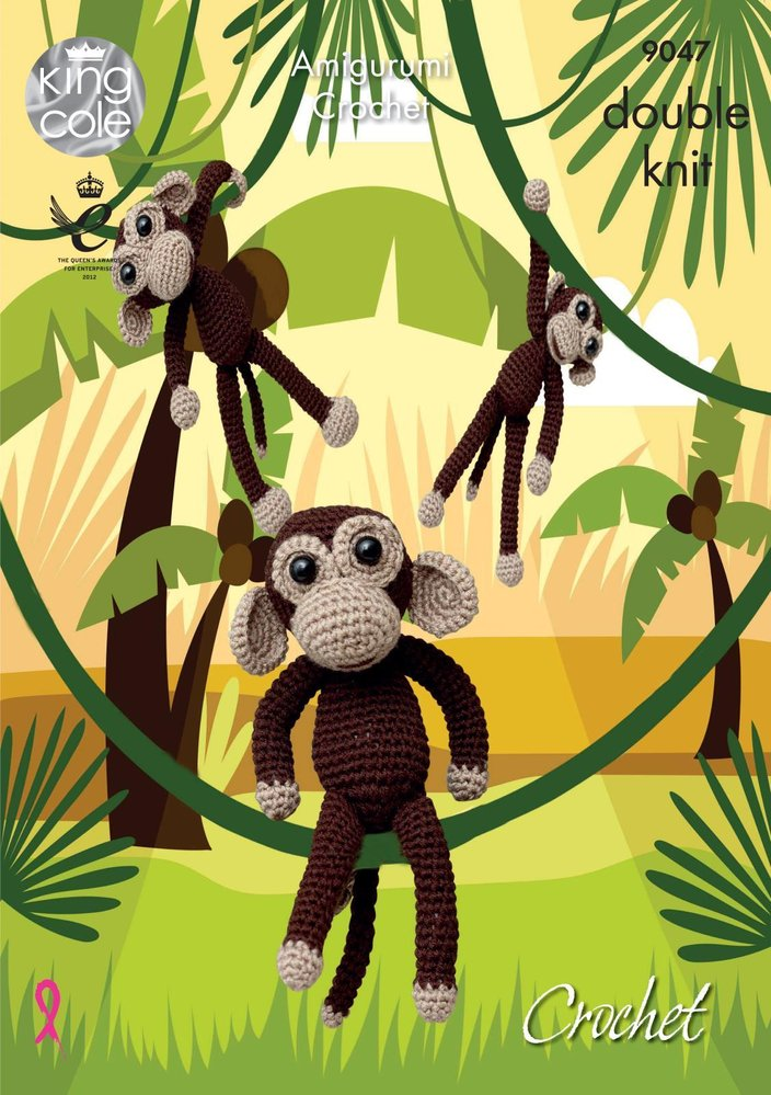 Cute Mogli Amigurumi Monkey Crochet Pattern By HavvaDesigns© No.1 | 999x704
