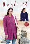Sirdar 7899 Knitting Pattern Womens Jacket and Cardigan in Hayfield Bonus Aran