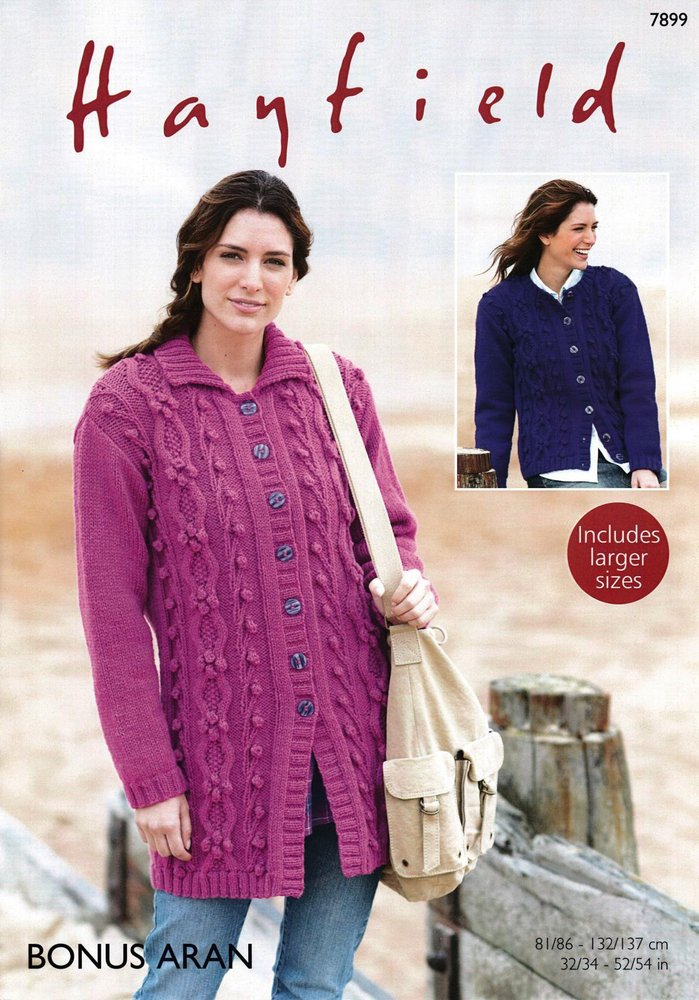 Sirdar 7899 Knitting Pattern Womens Jacket and Cardigan in Hayfield ...