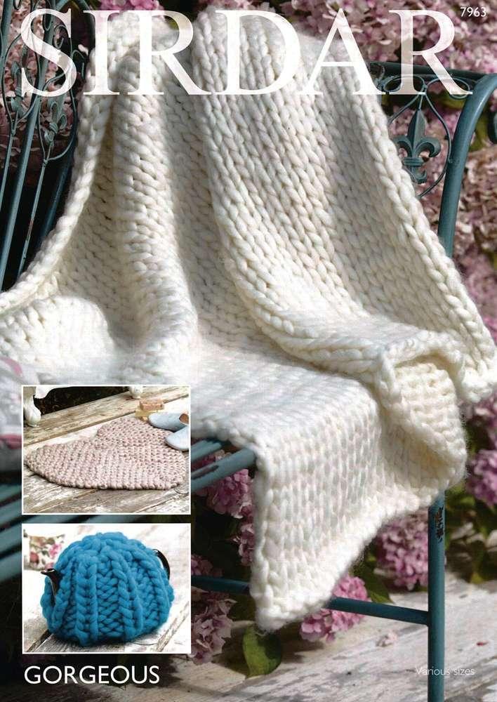 Sirdar 7963 Knitting Pattern Throw Teacosy and Heart Rug in Sirdar ...