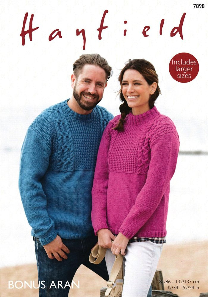 Sirdar 7898 Knitting Pattern Mens Womens Sweaters in Hayfield Bonus ...