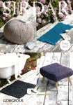 Sirdar 7965 Knitting Pattern Foot Stool Covers and Rugs in Sirdar Gorgeous Ultra Super Chunky