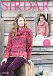 Sirdar 7969 Knitting Pattern Girls Womens Easy Knit Cowl Neck Sweater in Sirdar Wild