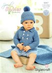 Stylecraft 9347 Knitting Pattern Baby Boys Jacket Hat & Blanket in Stylecraft Special for Babies DK