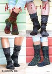 Sirdar 7935 Knitting Pattern Womens Mens Socks in Hayfield Illusion DK