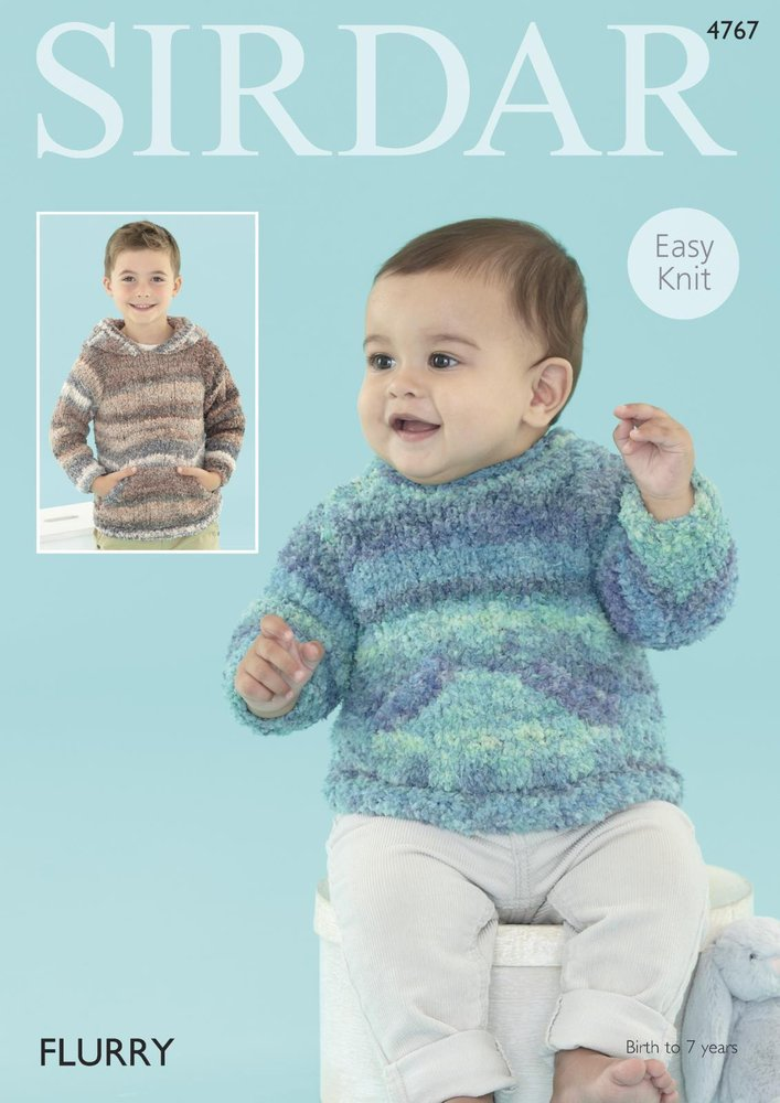 Sirdar 4767 Knitting Pattern Baby and Boy\'s Easy Knit Sweaters in ...