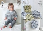 King Cole 4798 Knitting Pattern Baby Cardigan & Waistcoats in King Cole Drifter for Baby DK