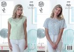 King Cole 4789 Crochet Pattern Womens Tops in King Cole Giza Sorbet 4 Ply