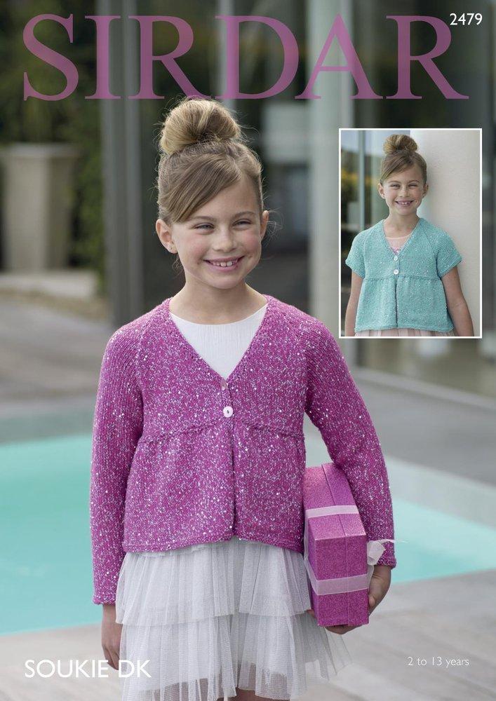 dfd3700b2 Sirdar 2479 Knitting Pattern Girls Long   Short Sleeved Cardigans in ...