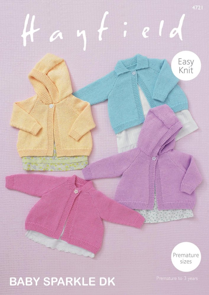 Sirdar 4721 Knitting Pattern Baby Girls Easy Knit Cardigans in ...