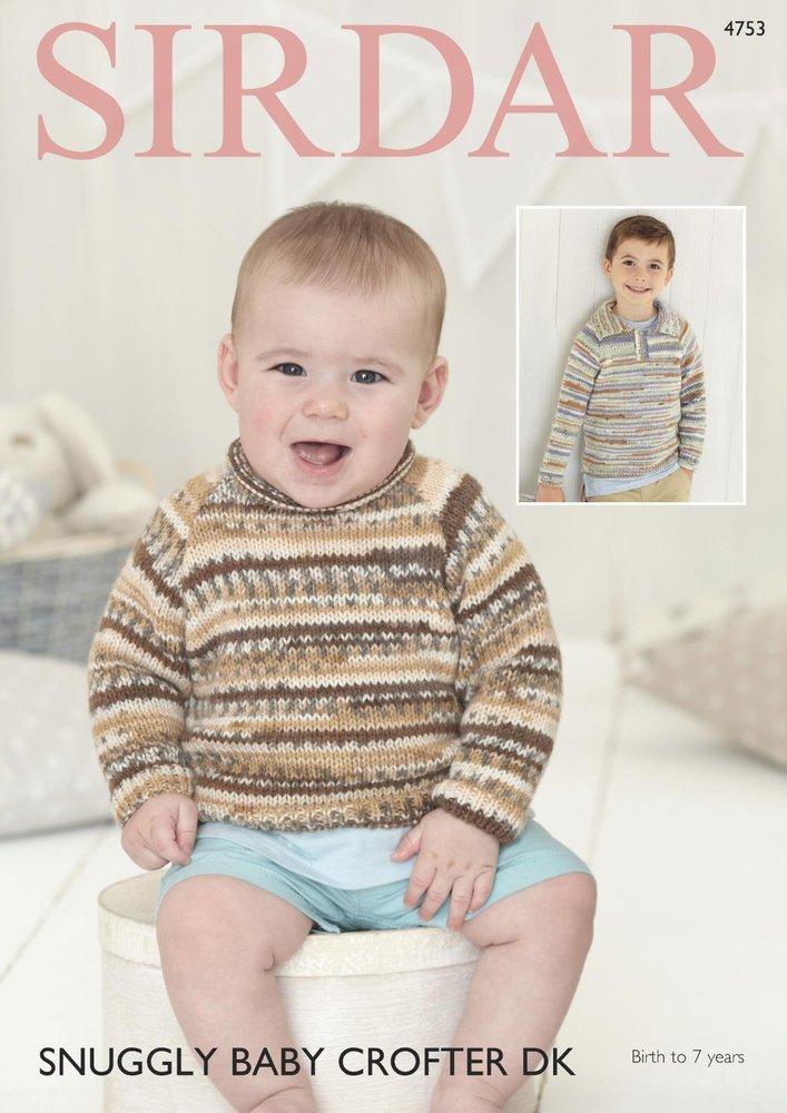 Sirdar 4753 Knitting Pattern Baby & Childrens Sweaters in Sirdar ...