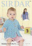 Sirdar 4736 Knitting Pattern Baby & Girls Cardigans in Sirdar Snuggly Tutti Fruitti