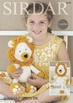 Sirdar 4743 Crochet Pattern Logan the Lion Toy in Sirdar Snuggly Spots DK & Snuggly DK