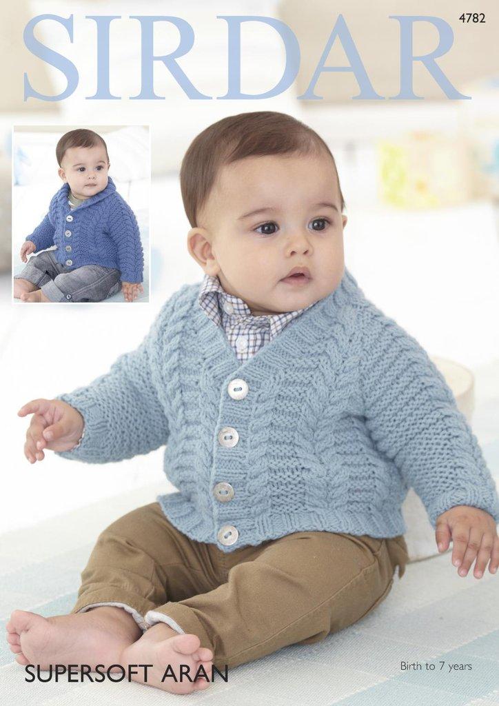 Sirdar 4782 Knitting Pattern Baby Boys Cardigans in Sirdar Supersoft ...