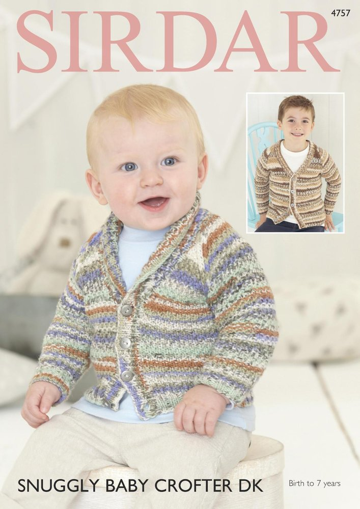 Sirdar 4757 Knitting Pattern Baby Childrens Cardigans In Sirdar